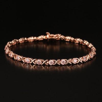 Sterling Swarovski Zirconia Bracelet