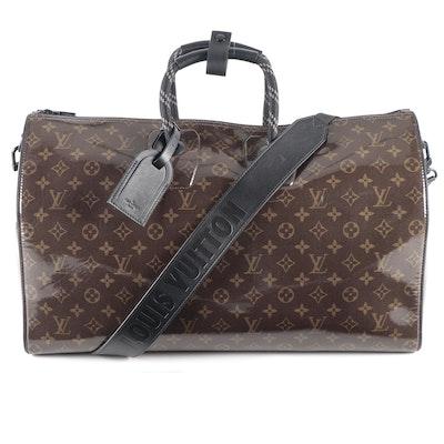 Louis Vuitton Limited Edition Keepall Bandoulière 50 in Monogram Glaze
