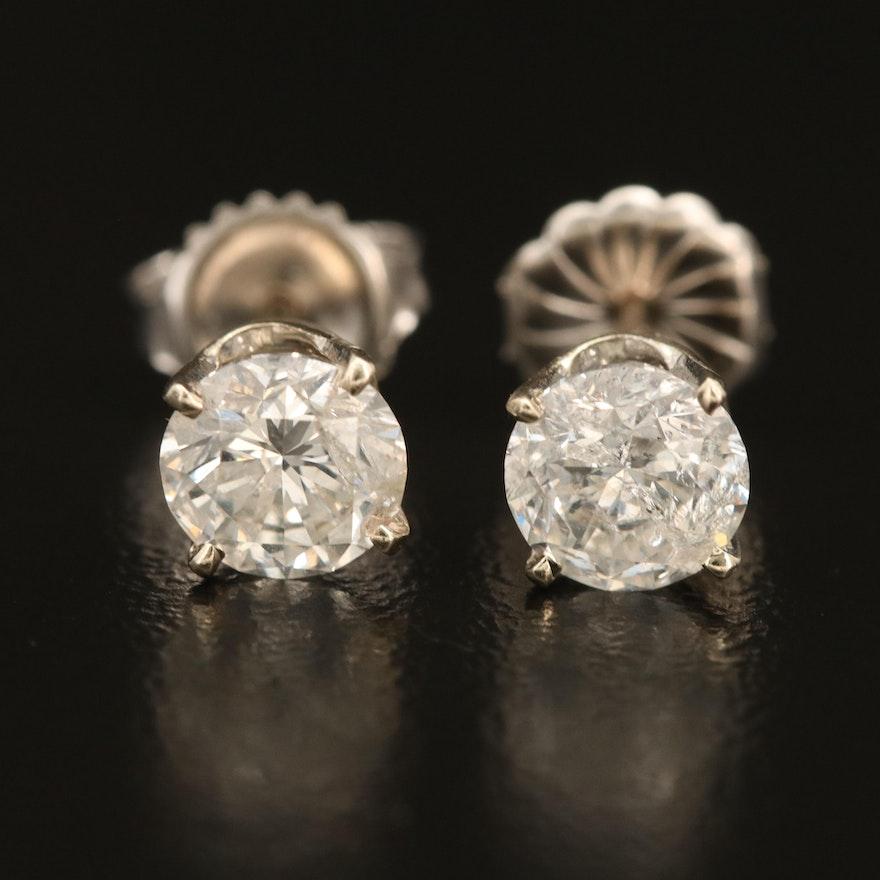 14K 1.71 CTW Diamond Solitaire Earrings