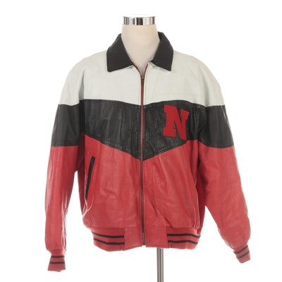 Men's College Phase Nebraska Football Leather Jacket