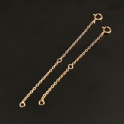 Sterling Silver Necklace Chain Extenders