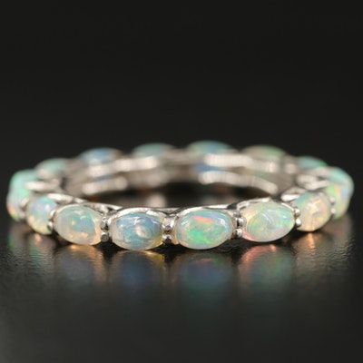 Sterling Silver Opal Eternity Band