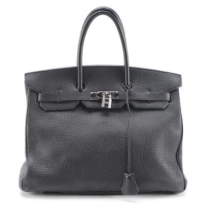 Hermès Birkin 35 Satchel in Black Togo Leather and Palladium Plated Hardware