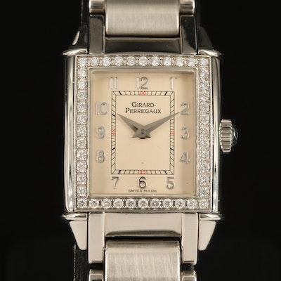 Girard-Perregaux Vintage 1945 Diamond and Stainless Steel Quartz Wristwatch