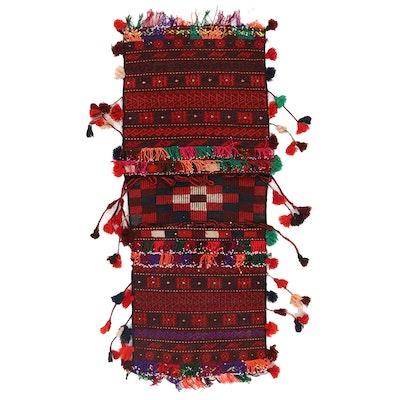 2' x 4'8 Handwoven Afghan Kilim Saddle Bag