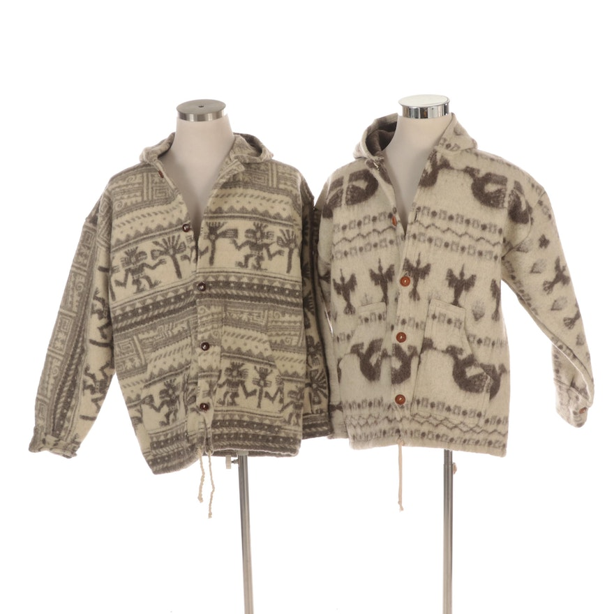 Men's Double Face Felted Wool Hooded Jackets