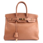 Hermès Birkin 35 Satchel in Gold Togo Leather and Gold Plated Hardware