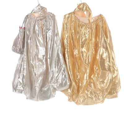 Hershey Kiss Inspired Silver and Gold Lamé Costumes