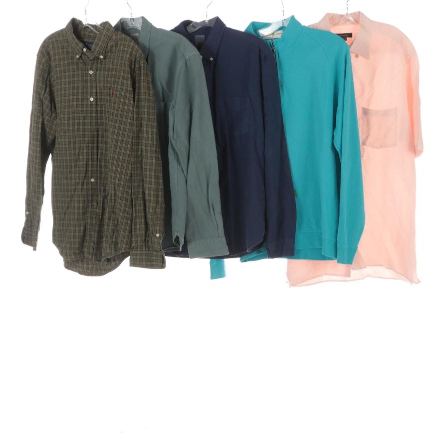Men's Zegna, J.Crew, Ralph Lauren, Fairway Greene Long and Short Sleeve Shirts