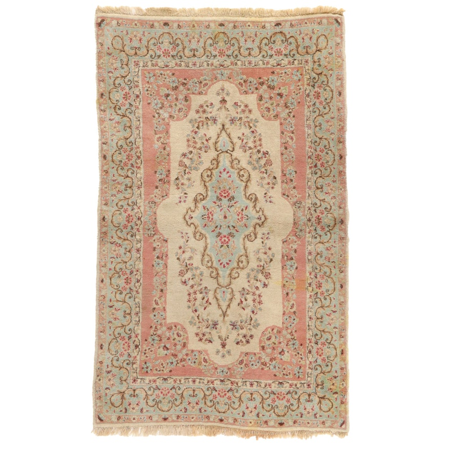 4' x 6'7 Hand-Knotted Persian Kerman Area Rug