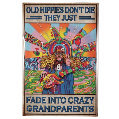 Psychedelic Grandparent Giclée Poster, 21st Century