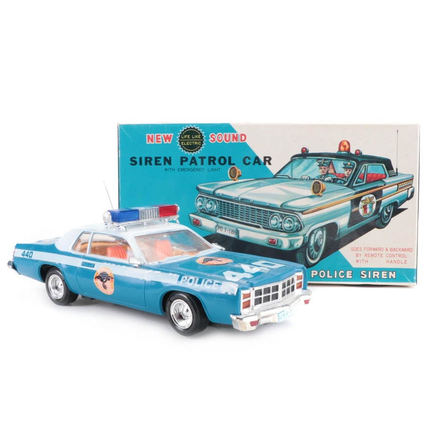 New Sound Siren Patrol Toy Cars with Remote Control, Vintage