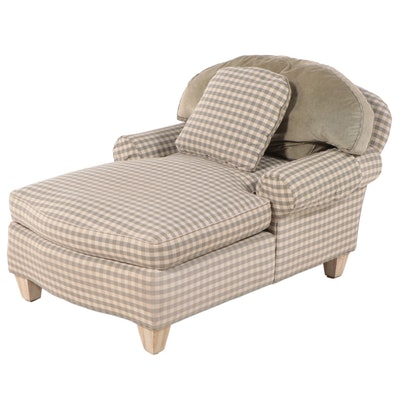 Wesley Hall Upholstered Oversize Chaise Lounge, Late 20th Century