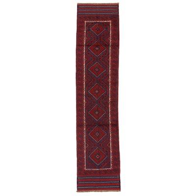 2'2 x 9'6 Handwoven Afghan Turkmen Mixed Technique Carpet Runner