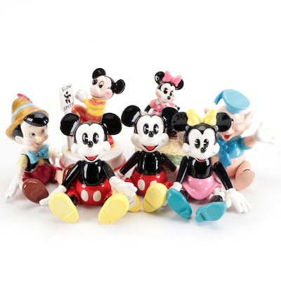 Schmid for Walt Disney Porcelain Musical Figurines Including Mickey Mouse