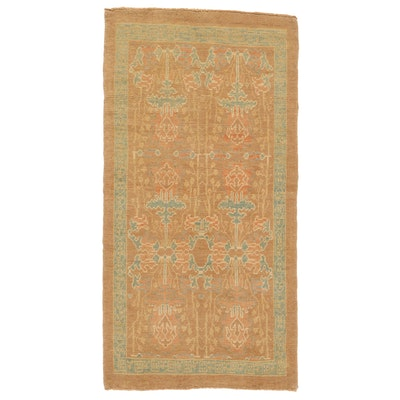 4'4 x 8'6 Hand-Knotted Turkish Donegal Area Rug