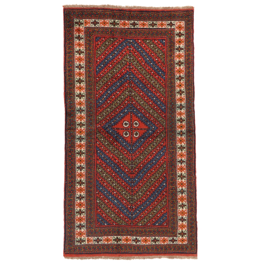 3'6 x 6'9 Hand-Knotted Persian Afshar Area Rug