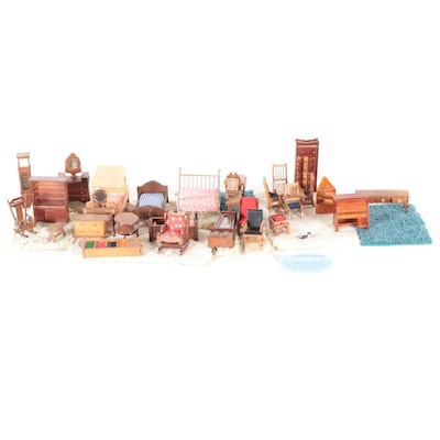Price Products and Other Wooden Doll Furniture and Carpet Squares