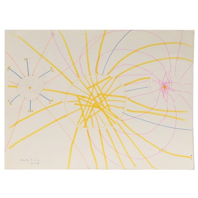 Dimitri Grachis Minimalist Abstract Marker Drawing, 1984