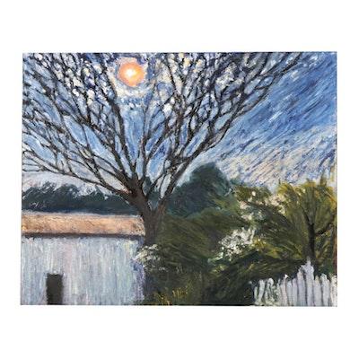 "Julian Cennamo Oil Painting ""April Moon,"" 2016"
