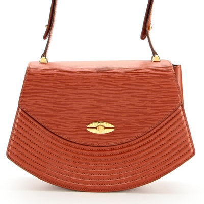 Louis Vuitton Tilsitt Shoulder Bag in Kenyan Fawn Epi and Smooth Leather