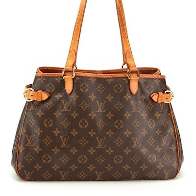 Louis Vuitton Batignolles Bag in Monogram Canvas with Vachetta Leather