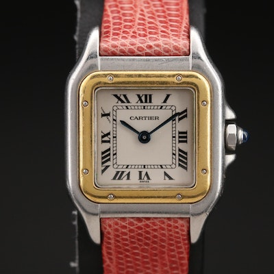 Cartier Panthere 18K Gold and Stainless Steel Quartz Wristwatch