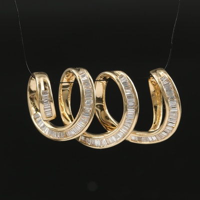 14K 1.80 CTW Diamond Spiral Slide Pendant