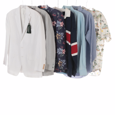 Men's Button-Down, Sport Coats and Long Sleeved Shirts in Various Sizes