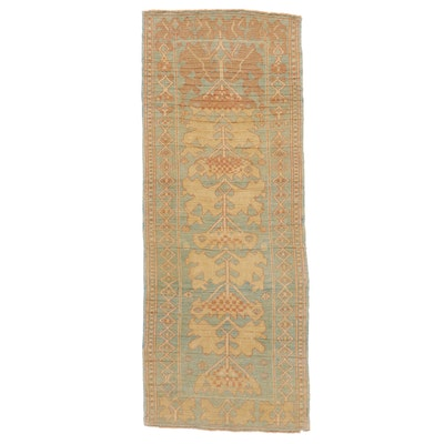 3'11 x 9'9 Hand-Knotted Turkish Donegal Long Rug