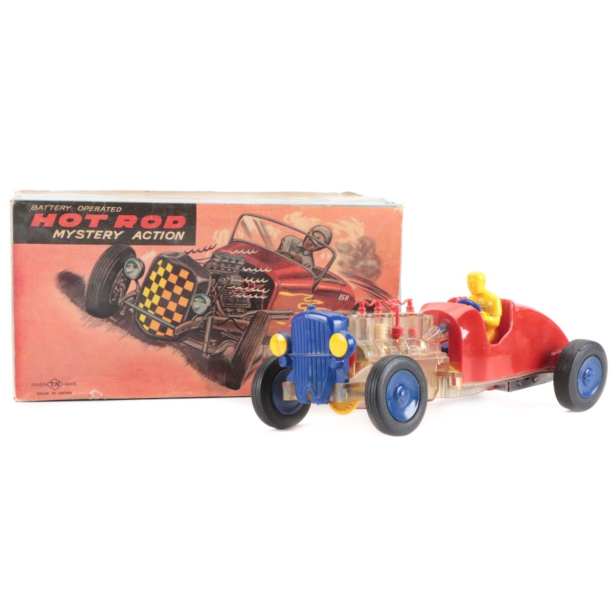 Hot Rod Mystery Action Dragster Cars, Vintage
