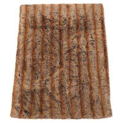 Restoration Hardware Faux Fur Throw Blanket