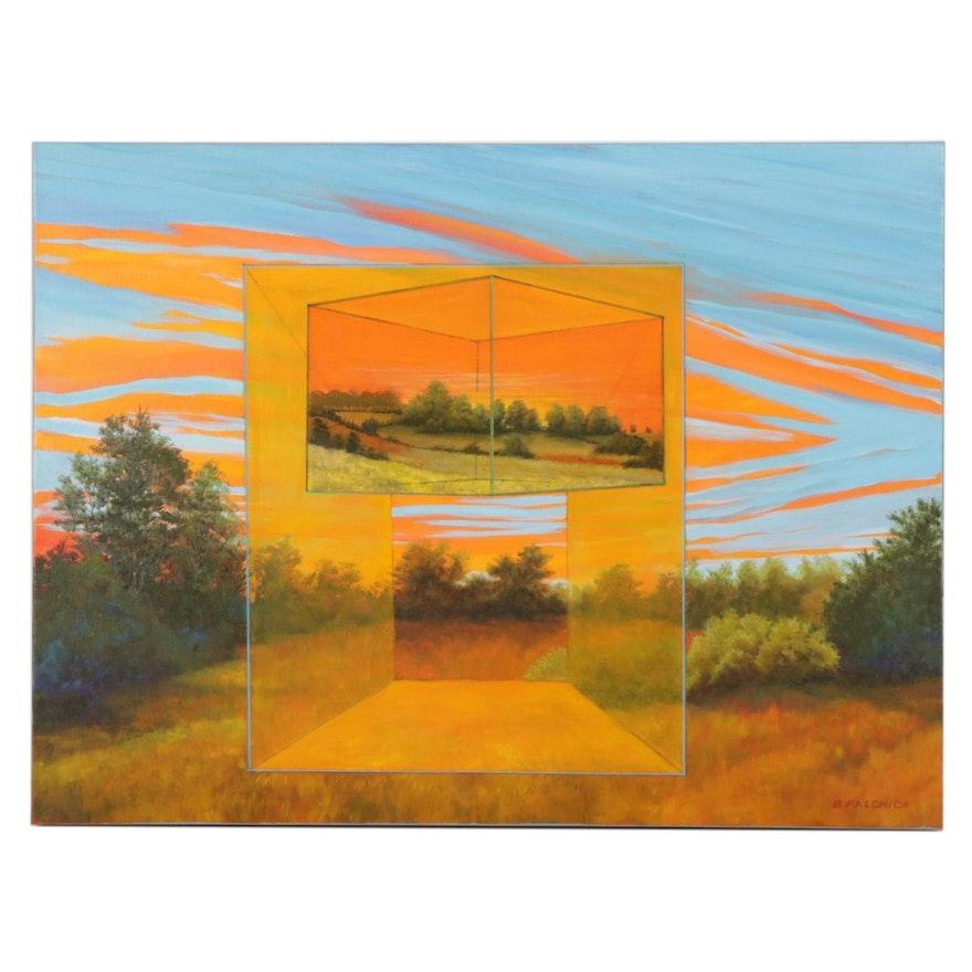 "Bernard Palchick Oil Painting ""Threshold I,"" 2021"