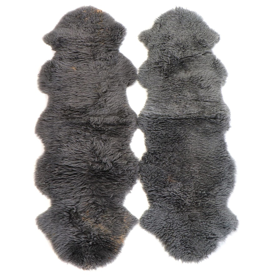 2'2 x 6'4 Bowron Natural Sheepskin Carpet Runners