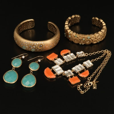 Rhinestone Jewelry Featuring Kate Spade Necklace and Rivka Friedman Jewelry