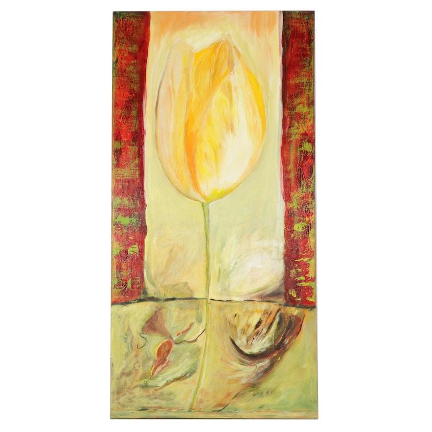 "MarianneB Mixed Media Painting ""Koningin Wilhelmina (Queen Wilhelmina),"" 2006"