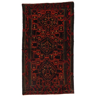 3'7 x 6'3 Hand-Knotted Afghan Baluch Area Rug