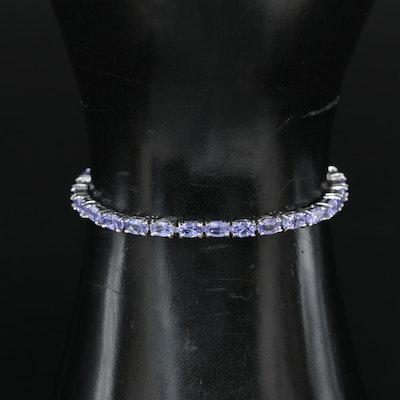 Sterling Tanzanite Bolo Bracelet