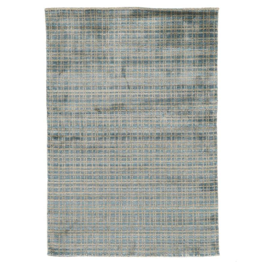 4'1 x 5'11 Machine Made Contemporary Art Silk Area Rug