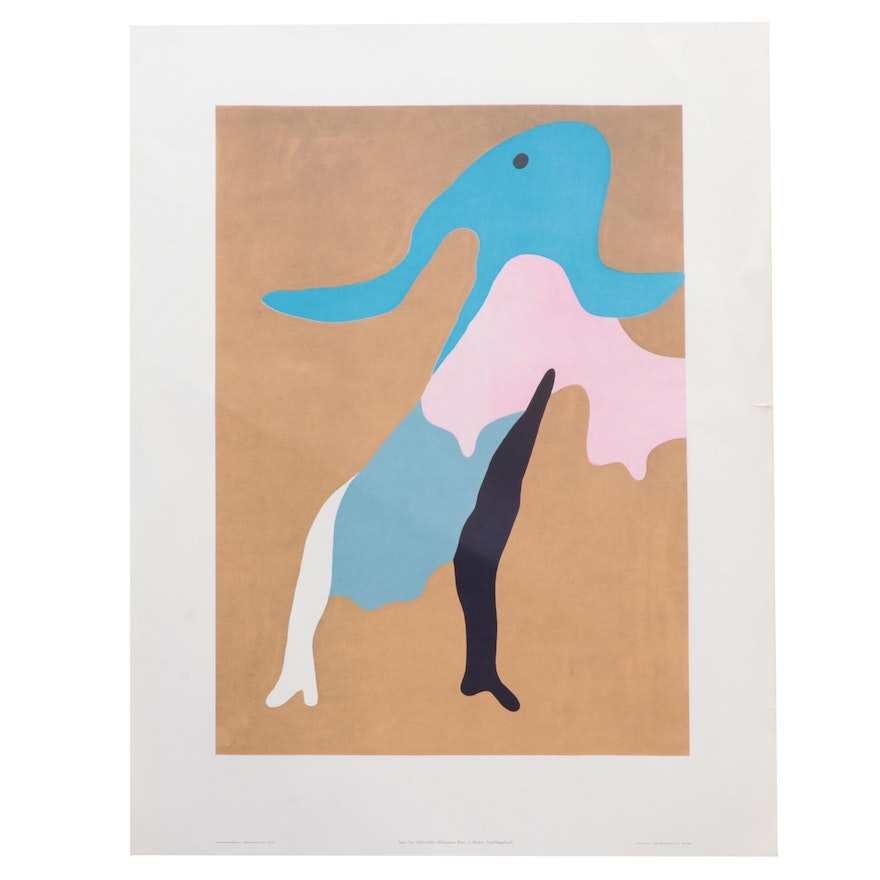 """Offset Lithograph After Jean Arp """"The Great Dancer,"""" Late 20th Century"""