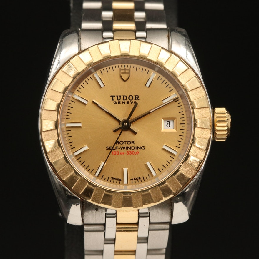Tudor Classic 18K Yellow Gold and Stainless Steel Automatic Wristwatch