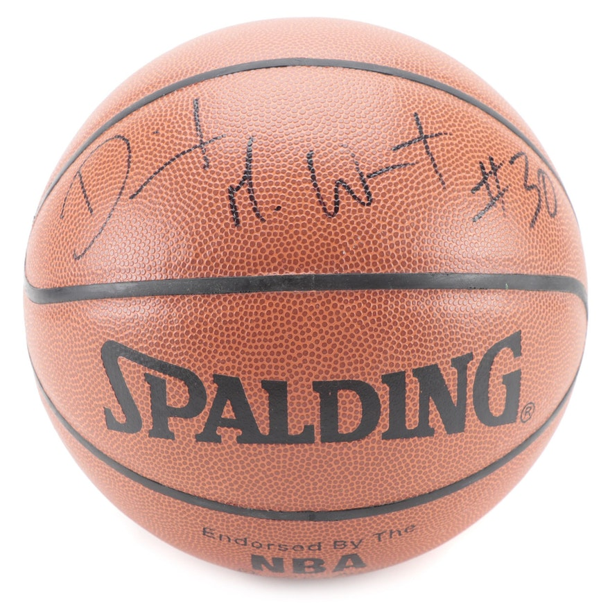 David West Signed Spalding NBA Basketball,  COA