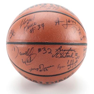 1999-2000 Xavier Musketeers Men's Team Signed Basketball, COA