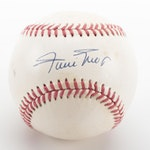 Willie Mays Signed Rawlings National League Baseball, COA