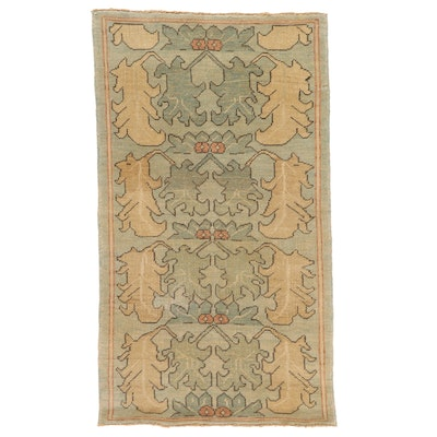 4' x 6'11 Hand-Knotted Turkish Donegal Area Rug