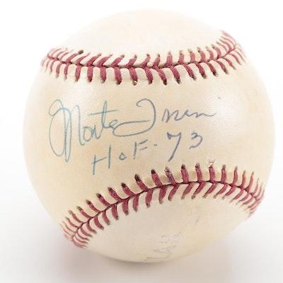"""Monte Irvin Signed """"HOF-73"""" Rawlings Baseball, COA"""