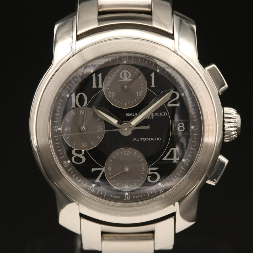 Baume & Mercier Capeland Chronograph Stainless Steel Automatic Wristwatch