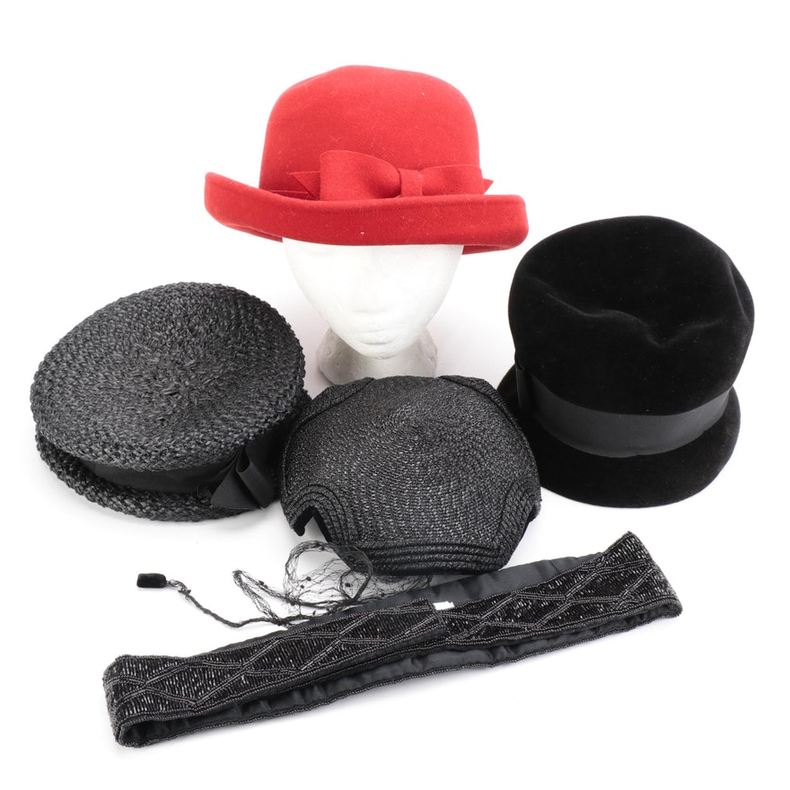 Whitall & Shon and Amy New York Hats with Other Beaded Belt
