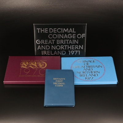 """British Proof Sets and """"Britain's First Decimal Coins"""" Set"""