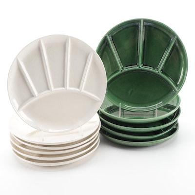 Mid Century Modern Style Fondue Stoneware Plates, Mid to Late 20th Century